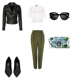 """Sin título #374"" by jocelin-cra on Polyvore featuring moda, Topshop, IRO, Yves Saint Laurent y Dolce&Gabbana"