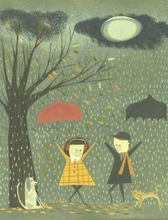 """Just a cute print to celebrate the season (or, 3/4 London seasons)  """"Late Fall"""" by Matte Stephens"""