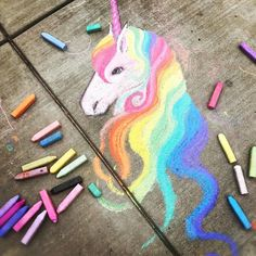 Street Art I am speechless Chalk art Art speechless Street unicorn Chalk art Drawn Art, Sidewalk Chalk Art, Grafiti, Unicorns And Mermaids, Unicorn Art, Happy Unicorn, Unicorn Painting, Chalkboard Art, Amazing Art