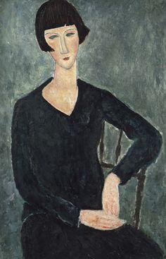 Femme à la robe bleue - Amedeo Modigliani