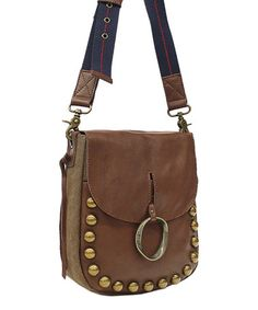This Brown Janis Leather Crossbody Bag is perfect! #zulilyfinds