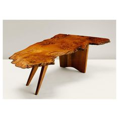 'Slab' Coffee Table (1960) George Nakashima, produced by the George Nakashima Studio, New Hope, Pennsylvania. Walnut burl, stained oak and rosewood #georgenakashima #georgenakashimastudio #slab #slabtable #1960 #newhope #pennsylvania #americandesign #japanesewoodworking #industrialdesign #interiordesign #interiors #table #coffeetable #furniture #modernism #inspiration