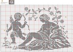 Crochet Skull Patterns, Crochet Angel Pattern, Crochet Angels, Crochet Cross, Crochet Motif, Crochet Doilies, Crochet Stitches, Cross Stitch Patterns, Cross Stitch Angels