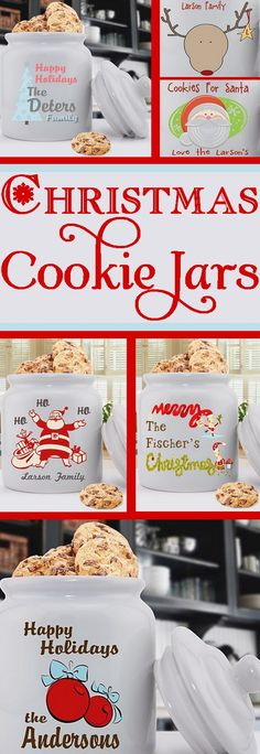 Personalized #Christmas Cookie Jars #cookiejar #holidays
