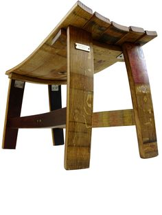 Wine Barrel Bench on The Urban Barrel Furniture Making, Home Furniture, Whiskey Barrel Furniture, Barrel Projects, Barrel Table, Bourbon Barrel, Build Something, Wood Art, Home Projects