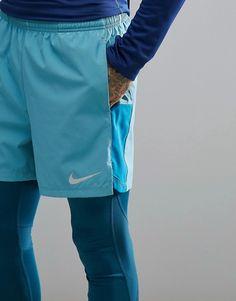 4a22dbcdabb4 Nike Running Flex Challenger 5 inch shorts in blue 856836-407
