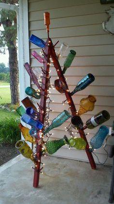 A-Frame Bottle Trees via Stacey Bock