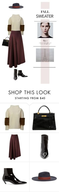 """French*Blood"" by halaadosariii ❤ liked on Polyvore featuring Saks Potts, Hermès, Ports 1961, Balenciaga, MANGO and fallsweaters"