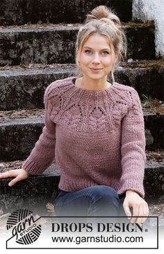 Drops Design, Sweater Knitting Patterns, Free Knitting, Drops Baby Alpaca Silk, Knit World, Drops Patterns, Work Tops, Pulls, Knit Crochet