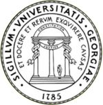 """Seal of the University of Georgia  Motto: """"To teach, to serve and to inquire into the nature of things"""""""