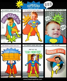 SUPERDAD Father's Day Gift with FREE Printables on www.iheartnaptime.com