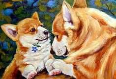 Pembroke Welsh Corgi Giclee Fine Art Print by DogArtByLyn on Etsy, $19.94