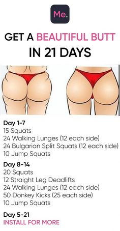 Get A Beautiful Butt In 21 Days! Workout Get A Beautiful Butt In 21 Days! Workout The post Get A Beautiful Butt In 21 Days! Workout appeared first on Gesundheit. Fitness Herausforderungen, Fitness Tracker, Health Fitness, Fitness Quotes, Physical Fitness, Health Exercise, Quotes Motivation, Women's Health, Health Motivation