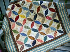Orange Peel quilt made with Civil War fabrics from book Remembering Adelia by Kathleen Tracy  www.countrylanequilts.com