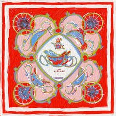 Hermès - Carré  New Springs  by Dimitri Rybaltchenko Sac Kelly, Scarf  Design, 409942d0793