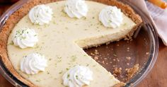 The delicious key lime pie has an easy-to-make filling made up of only three ingredients.