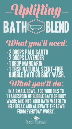Use this Palo Santo bath blend to help relax at the end of a hard day, clear your mind and promote feelings of peace, clarity, and calm. Essential Oil Perfume, Essential Oil Uses, Essential Oil Diffuser, Palo Santo Essential Oil, Plant Therapy, Diffuser Blends, Aroma Diffuser, Beauty Recipe, Clarity