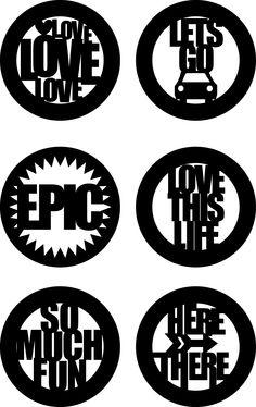 "Free Chic Tags: 2"" circle sentiment cut files #Silhouette #Cricut #CutFile"