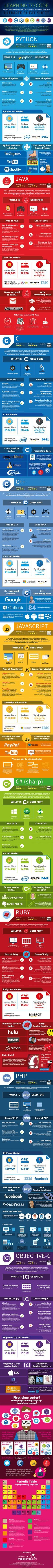 Should You Learn Python, C, or Ruby to Be a Top Coder? (Infographic)