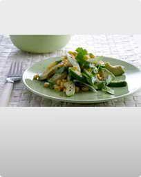 Majs og avocadosalat