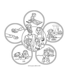 Islamic Coloring Pages Printable New Muslim Kids: Coloring Page: Islam Is Happiness   Ramadhan