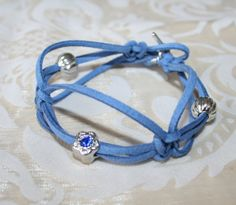 Lovely blue bracelet with beads by HomiArticles on Etsy, $13.75