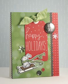 Lawn Fawn - Peace Joy Love papers, flair, mixed sequins, snowflake sequins, Winter Bunny stamp and coordinating die _ festive and fun card by Yainea
