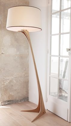 Wooden floor lamps, Diy floor lamp, Modern floor lamp design, Wood floor lamp, F… - All For House İdeas Wood Floor Lamp, Room Lamp, Lamp, Diy Flooring, Wooden Floor Lamps, Wooden Lamp, Floor Lamp Design, Floor Lamps Living Room, Diy Floor Lamp