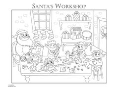 Santa S Workshop Coloring Pages Coloring Pages