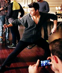 """Chris Colfer behind the scenes of 5.16, """"Tested"""""""