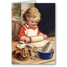 Christmas Cookies Vintage Christmas Card http://www.zazzle.com/christmas_cookies_vintage_christmas_card-137580902765985469?rf=238312613581490875