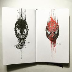 Ok. I'm enjoying this series | Venom x Spidey #DrippingPortraits