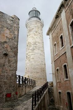 Faro del Morro - This is a lighthouse built at the site of an old fortress on the sea which protected Habana, Cuba.