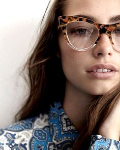 tortoise cat-eye frames. I love the whole glasses trend, but the way my individuality works... (too many peeps are sporting this)