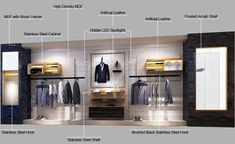 GR159 Modern Retail Menswear Clothing Shop Interior Design_Guangzhou Dinggui Display Furniture Design & Manufacturer