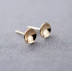 Hi there! I'm looking for feedback on these minimalist earrings! Do you think they'd look better in rose gold? Click through the pin to comment with your feedback!   Simple & Minimalist Earrings by LilyEmmeJewelry | Hatch.co