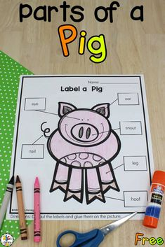 Are you looking for an engaging and educational, no-prep farm themed activity for your preschoolers? These Label a Farm Animal Worksheets are a fun way for your preschooler to practice cutting, gluing, and coloring. This no-prep worksheet is a great addition to your farm unit or just an entertaining activity when learning about farm animals. Click on the picture to get your free label a farm animal worksheets! #preschoolworksheets #noprepworksheets #farmunit #labelafarmanimalworksheet #preschool