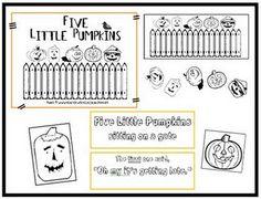 Five Little Pumpkins  @Teach it with Class FREEBIE