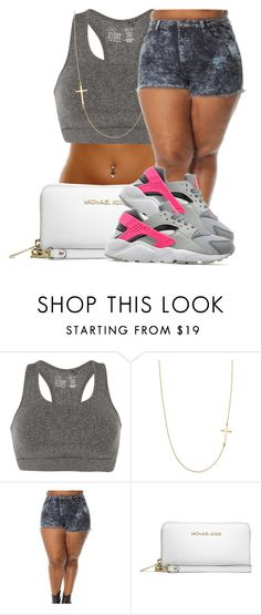 """"""""""" by queen-jamii ❤ liked on Polyvore featuring beauty, even&odd, Stella & Dot, MICHAEL Michael Kors and NIKE"""