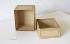 Anstatt Kartonverpackungen wegzuschmeissen, kann man diese auch toll recyceln. Zum Beispiel kann man Schachteln und Boxen damit basteln und dies erst noch im Wunschformat.  http://www.deschdanja.ch/kreativ-blog/101-kartonschachtel
