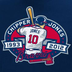 Atlanta Braves Chipper Jones- It's rare that one player spends his entire career with the same team!