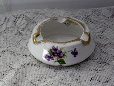 Vintage Bone China Ash Tray made in England by jonscreations #craftshout
