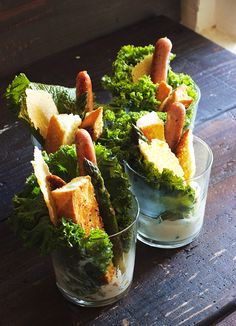 Individual Stick Caesar Salads for Parties