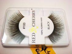 NIB~ Red Cherry #100 False Eyelashes Fake Lashes LONG
