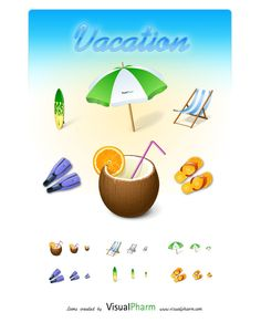 New Icon Pack: Vacation Icons by Visual Pharm Download link: http://www.iconspedia.com/pack/vacation-icons-4287/