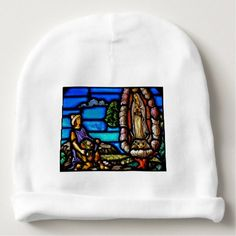 366b4ec24480c Our Lady Guadalupe Nuestra Senora Stained Glass Baby Beanie - winter gifts  style special unique gift