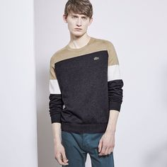 Shop #AW15 @lacostelive like this Tricolor Knitwear Sweat in store and online @fatbuddhastore. Head over to our blog to read more about @lacostelive's #AW15 collection now #fatbuddhastore #glasgow #lacostelive #Lacoste