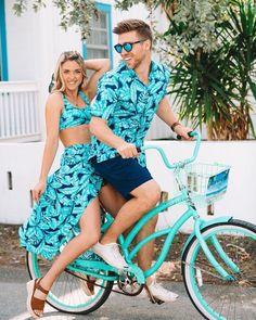 Beach Vacation Outfits, Honeymoon Outfits, Matching Couple Outfits, Matching Couples, Travel Chic, High Waisted Bikini Bottoms, Swimsuits, Swimwear, Beachwear