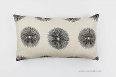 Custom Pillows by Lynn Chalk in Kelly Wearstler Sea Urchin Ivory/Ebony 12 X 22 (Both Sides), $75.00 (http://store.lynnchalk.com/on-sale-pillows-in-kelly-wearstler-sea-urchin-ivory-ebony-12-x-22-both-sides/)
