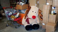 Transport for London's Baker Street lost property office. Stuffed toy